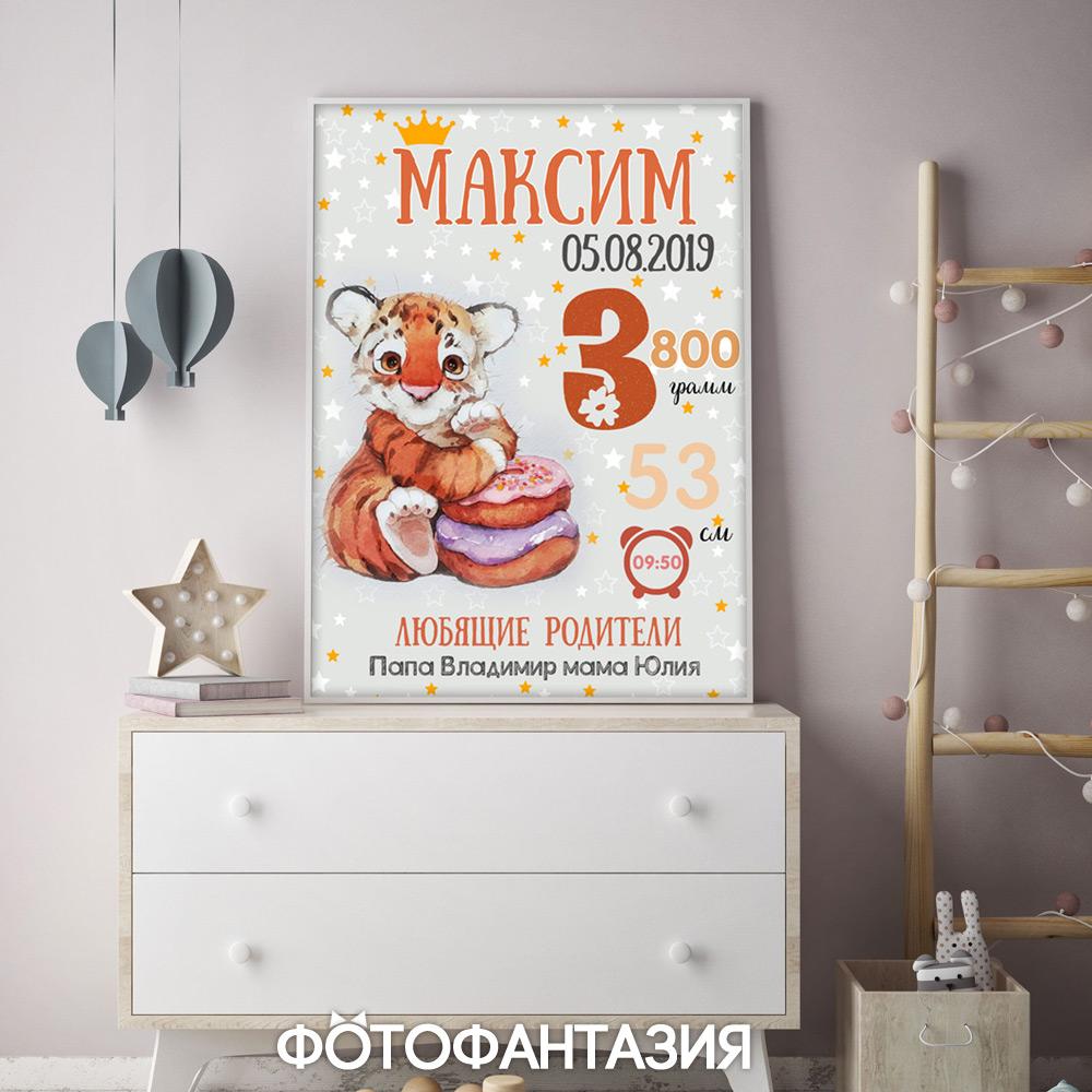 Сделать постер-метрику для малыша