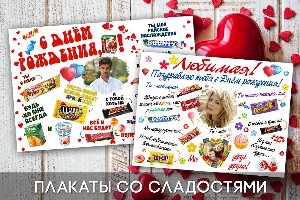 Плакаты со сладостями: идеи оформления